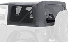 10-18 JEEP WRANGLER JK 2 DOOR REPLACEMENT BLACK SOFT TOP TINTED WINDOWS 9075235