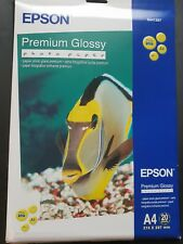 EPSON PREMIUM GLOSSY PHOTO PAPER A4 20 SHEETS 255gr New Boxed