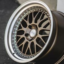 ESR SR01 18x9.5 5x114.3 ET35 Matte Bronze Machined Lip Wheels (Set of 4)