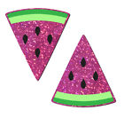 Pasties - Hot Pink Glittering Watermelon Slices.