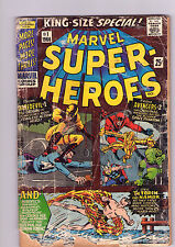 Marvel Super-Heroes #1 - First Mavel One-Shot! Daredevil Origin - 1967 (2.0) WH