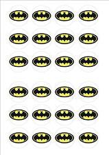 Logotipo de Batman Comestibles Hada Cup Cake, Decoración Toppers Papel De Arroz X 24