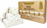 BooBamboo Organic Sensitive Washcloths for Babies and Adults, Washable Pack of 6