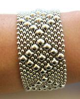 SG Liquid Metal Silver Mesh Cuff Bracelet by Sergio Gutierrez B9 / All SIZES