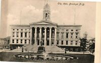 Vintage Postcard - Un-Post Black And White City Hall Brooklyn New York NY #4118