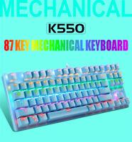 Mechanische USB Tastatur Bunte LED Beleuchtete Hintergrundbeleuchtete Tastatur