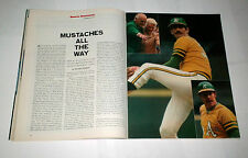 1972 Sports Illustrated ROLLIE FINGERS Oakland A's win WORLD SERIES  !