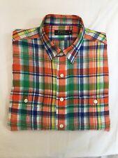 Ralph Lauren CLASSIC FIT L/Sleeve Mens Linen Check Shirt XL (RL463)