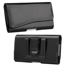 Luxmo Leather Holster Belt Clip Case Pouch For iPhone Samsung Large Cell Phone