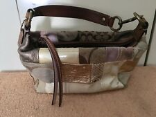 Coach Cute Little Evening Handbag Patchwork Of Various Leathers Clean Small Real