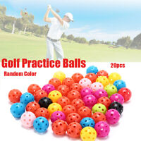20 Stk tragbares Golf-Trainingstraining Sportbälle Whiffle Airflow Hollow Ball