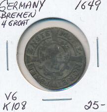 GERMANY BREMEN 4 GROAT 1649 K108 - VG