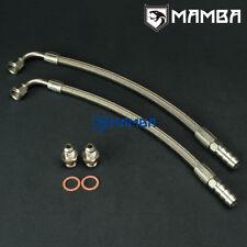 "DIY Turbo Water Line Kit 6AN 3/8"" Hose 90Deg-1/2"" Barb 50cm Garrett GT25R GT28R"