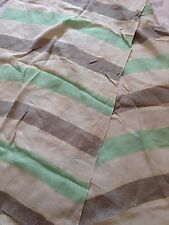 beige, gold & green striped scarf, Nice For Spring And Summer