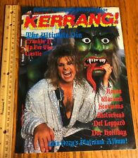 Ozzy Osbourne/ Magazine/ Kerrang!/ The Ultimate Sin/ Jake E Lee/ 1986/ Sabbath
