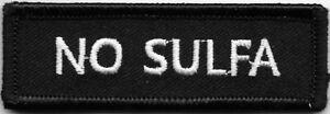 Black White No Sulfa Medical Alert Patch VELCRO BRAND Hook Fastener Compatible