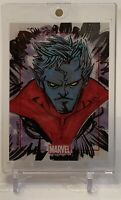 X-MEN'S NIGHTCRAWLER MARVEL SKETCHAFEX SKETCH AUTOGRAPH ART CARD 1/1