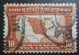 U.S. Stamps: Scott#327, 10c,  Red Brn, The Louisiana Purchase Expo Issue of 1904