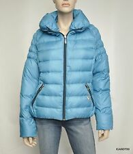 Nwt $200 Guess Winter Snow Puffer Zip Jacket Down Parka Top Coat ~Turquoise *XL