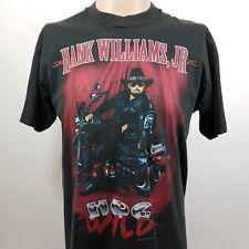 Hank Williams Jr. Hog Wild Tour Tshirt Size L 1995