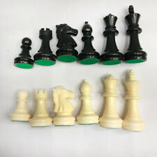 Staunton Single Weight Chess Pieces King 64mm - Full Set of 32 Black & White