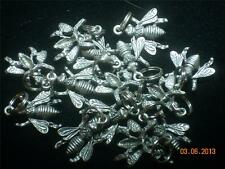 Wholesale Lot #191 Honey Bee Pewter Charm Pendant as Earrings Key Chain Bracelet