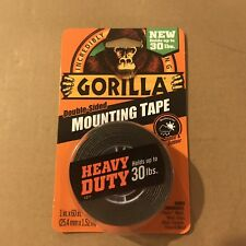 """New listing Gorilla Glue 6055001-6 Double-Sided Heavy Duty Mounting Tape , 1"""" x 60"""", Black"""