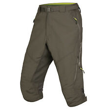 Endura Hummvee II 3/4 Length Shorts | Mens Medium | MTB Baggies Enduro DH Khaki