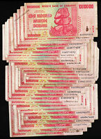 30 x 100 Million Zimbabwe Dollars Banknotes AA 2008 30PCS Paper Money Collection