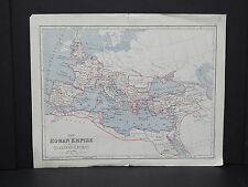 Antique Map, c.1900 Roman Empire #09