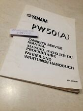 Yamaha PW50 PW 50 A 3PT Peewee 50PW manuel atelier proprietaire  éd. 89