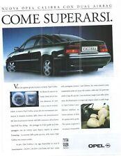 OPEL CALIBRA   -  Reklame - Werbung - alte  Annonce -