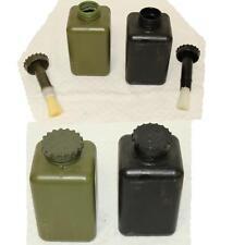10x Behälter /Flasche Deckelpinsel, Bundeswehr Dekontaminationssatz oliv/schwarz