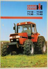 prospectus brochure tracteur CASE IH 7110 7120 7130 7140 tractor traktor