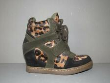 NEW ASH 39 COOL PONY BLACK LEOPARD PONY FUR SUEDE HIGH TOP SNEAKERS TENNIS SHOES