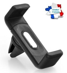 Support Grille Aération Voiture Universel NOIR pour iPhone Samsung GPS ...
