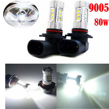 2x 6000K White 9005 HB3 High Power 80W LED Cree Projector Fog Driving DRL Lights