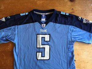 Reebok On Field Tennessee Titans Kerry Collins #5 Size Youth XL Jersey B10