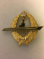 Turkey All Ranks Full Size Metal Submarine Insignia Badge (1935-56 & 77-Present)