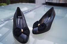 Peter Kaiser Damen Schuhe Pumps Leder Absatz Schleife Gr.4 / 37 schwarz NEU #92