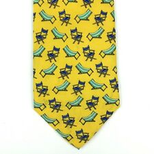 "Utopia Men's Tie Handmade Yellow Beach Chair Relax Vacation Novelty Necktie 58"""