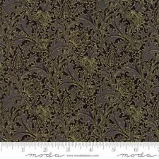 Moda Morris Holiday by V & A Museum 7315 15M Black Metallic COTTON