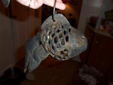 CAST IRON HANGING BLOW FISH /FISH RARE! HEAVY