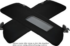 BLACK STITCHING FITS BMW 3 SERIES E36 92-99 2X SUN VISORS LEATHER COVERS ONLY