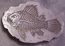 Pewter Belt Buckle animal fish Barracuda NEW