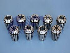 """NEW Precision ER16 ER-16 9 PCS Spring Collet Set 1/8 - 3/8"""" With 3/16 1/4 5/16"""