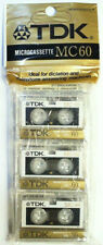 New listing 3-Pack of Tdk Mc-60 Blank Microcassette Audio Cassette Tapes Seal Packet (C5)
