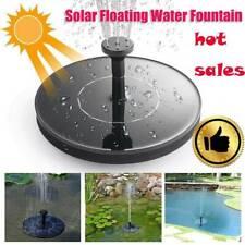 Outdoor Solar Powered Floating Birds Bath Water Fountain Garden Pump Pools Hot