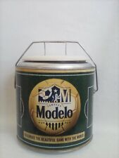 Modelo Beer Cylinder Tin Beer Beverage Cooler Soccerball New