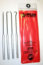 "4 Piece Hook & Pick Set Set, Wilde Toolâ""¢, w/ pouch, U.S. Made Gunsmith"
